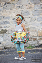 wholesale kids mustard pie clothing set boutique outfits baby girl