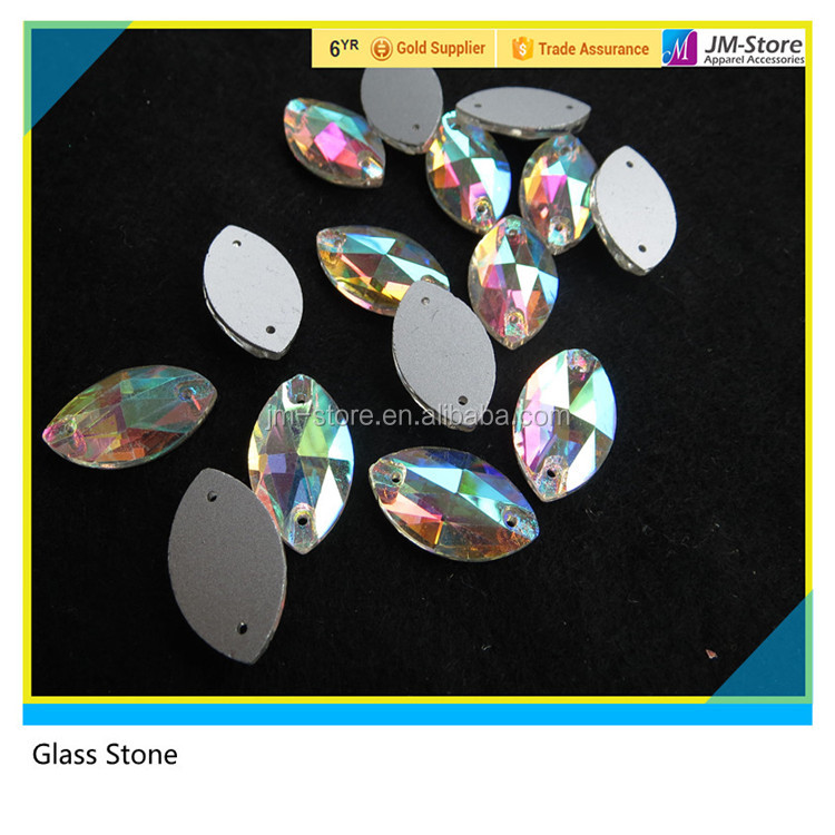 Wholesale Sew on Rhinestone Diamond Horse Eye Sewing Glass Stone Sandle Embellishments