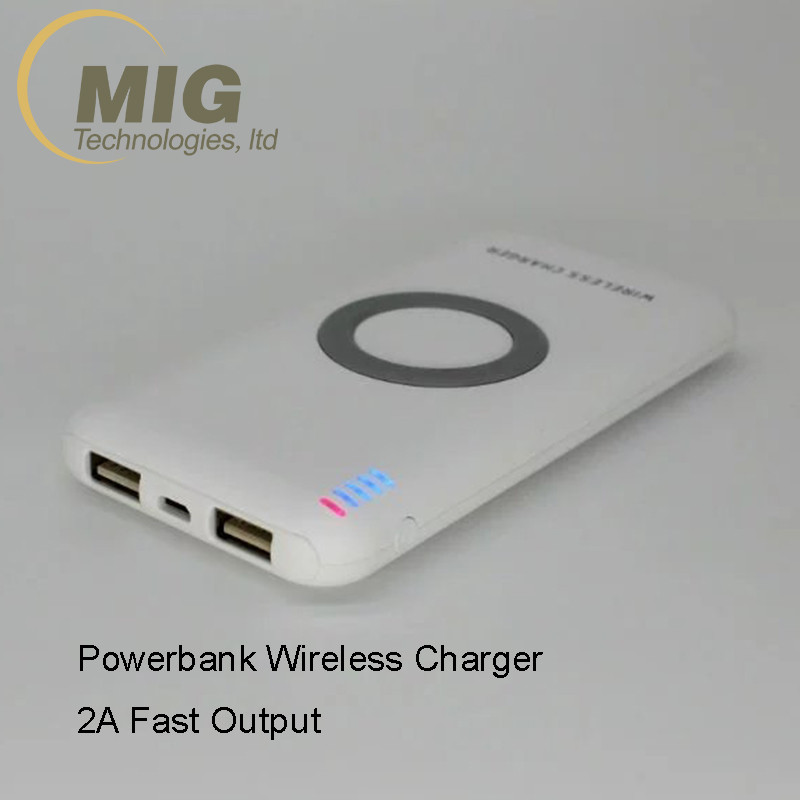 Qi Wireless Charger Pad Wired Power Bank Dual USB Port For Samsung Galaxy S8 S7 S6
