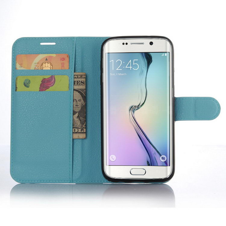 Top grade best sell wallet leather case for samsung s7 edge