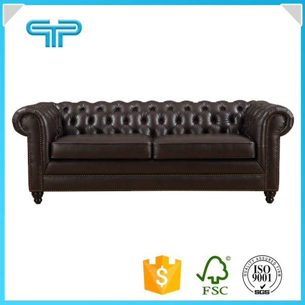 American style 2 seater chestfield button salon <strong>sofa</strong> 3541