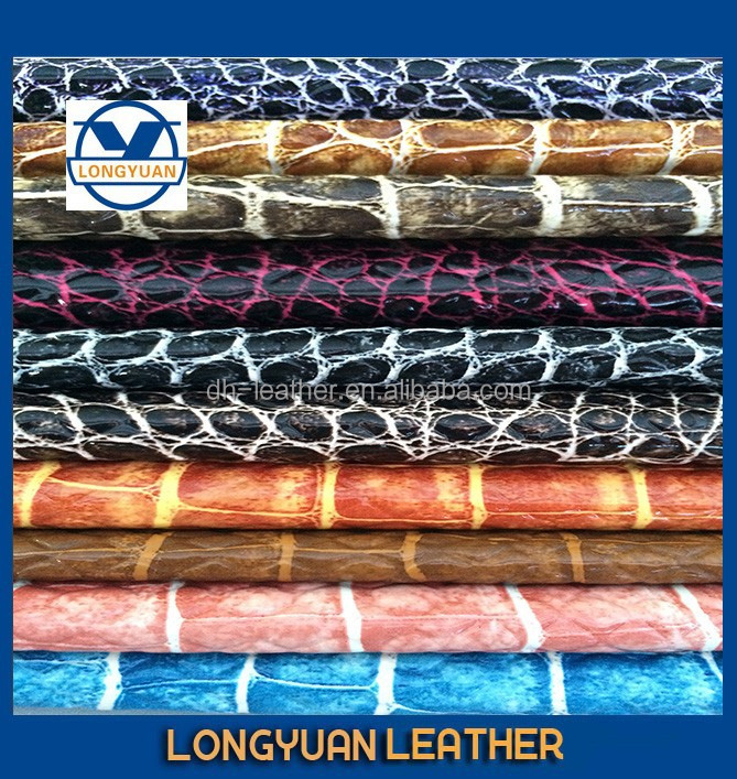 moisture cured pu leather in crocodile pattern