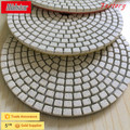 Diamond abrasive flexible wet polishing pad