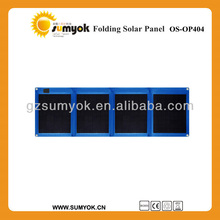 New arrival 40W Outdoor portable folding/foldable solar panel for laptop/notebook/12V battery