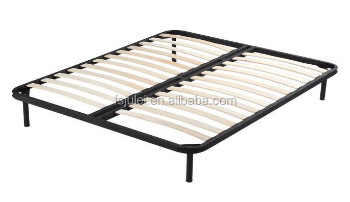simple design and strong platform mattress foundation metal slatted bed frame DJ-PC03