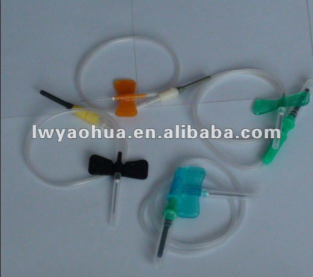 Vacuum blood drawing needle and tubes kit
