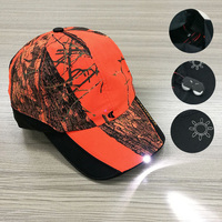 built-in led light baseball cap and hat with custom embroidery logo