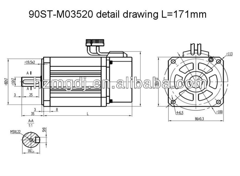 90ST-M03520 detail drawing