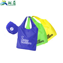 Recyclable reusable durable waterproof nylon foldable shopping bag