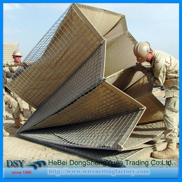 Afghanistan market used galvanized military sand wall hesco barrier