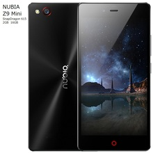 ZTE Nubia Z9 mini 5 inch China Mobile Phone1920*1080 FHD RAM 2GB ROM 16GB 16MP Snapdragon 615 Chipset Octa Core Cell phone