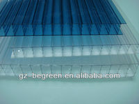 industrial pc polycarbonate multi-wall hollow sheet panel with recycled plastic