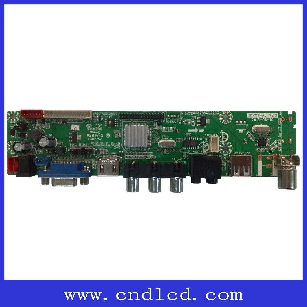 On-sale LCD LED TV Parts Universal V59 Main Board with Invert screen Function