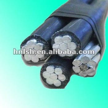 Quadruplex Aerial Bundle Cable Overhead ABC Cable