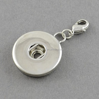 Snap Button Jewelry Pendant with Lobster Claw Clasp Fit for 4x6mm Shank Snap(KK-S086)