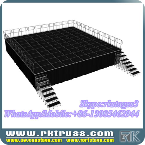 RK stages for school performance/wedding stage rental/concert outdoor indoor events stage sale