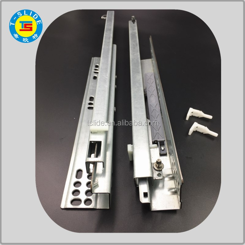 TS haining direct factory whole sale high quality galvanized drawer slides kitchen hanging rail seat slide rail
