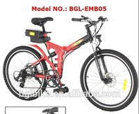 "2016 new 26"" mountain folding electric bike kit motor bicicleta"