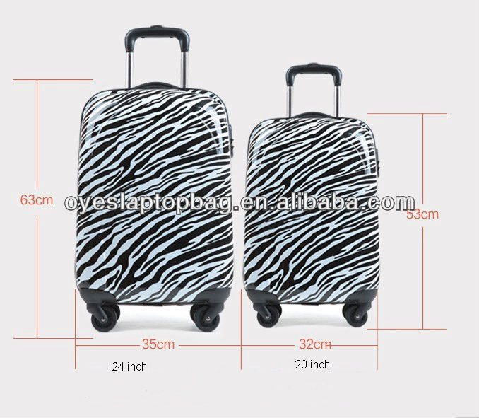 abs / pc full printed conwood super light luggage & travel bags set