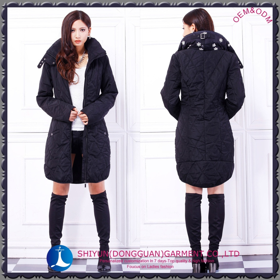 2015 the newest women's long coat and parka with hoodies and embroidery any color(free sample)