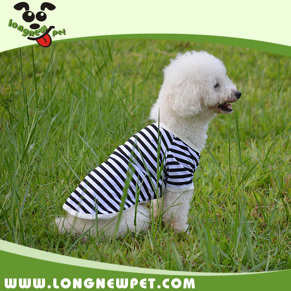 Six Colors Stripe Puppy Summer Clothes Cheap Dog T Shirts