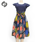 Ladies Floral Knee Length Midi Dress Womens Strappy Summer Dresses Custom Fit Kitenge Dress Designs for African Women