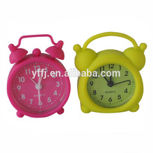 Color silicone case carpet alarm clock for sale