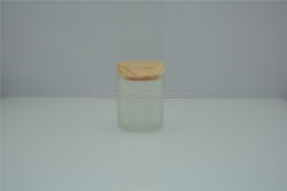 200ml fragrance candle glass jar with pine wooden lid