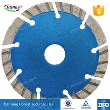 China honest diamond saw blade cold press sintered 105mm skip tooth segment dry cut for stone