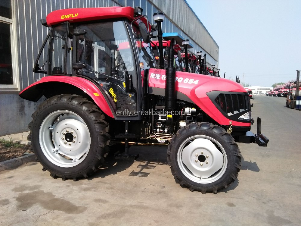 tractor 65hp 4WD with A/C air conditioner cabin, front end loader