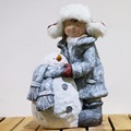 Lovely children garden statues used in Christmas decoration