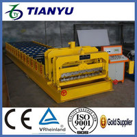 ISO & CE certificate antique chinese steel roof tiles roll forming machine