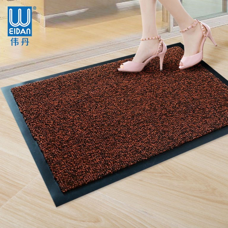 100% PP cut pile rubber backed floor rug