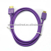 24K gold plated super soft cable 1m hdmi cables wholesale