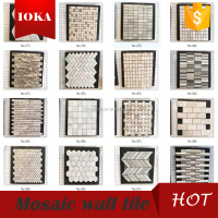 Hexagonal marble mosaic with back mesh