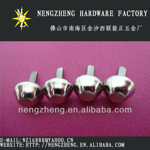 15mm nickel metal bucket spike rivet for shoe &bag design