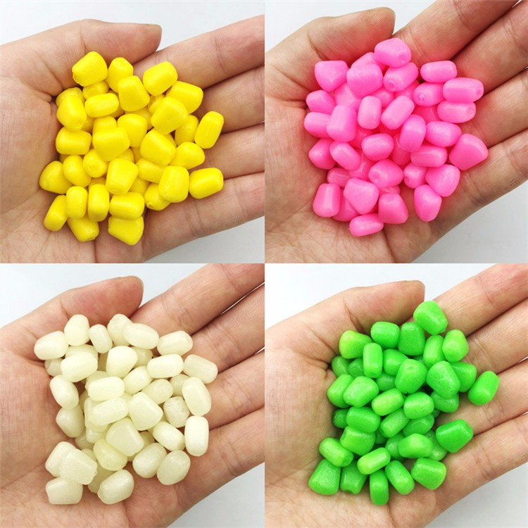 YOUME 100pcs/pack 1cm 0.43g Soft Fishing Lure Floating Corn Lure for Carp Fishing Lures Smell of Corn <strong>Grain</strong>