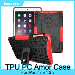 Colorful TPU PC Hybrid Armor Case For iPad Mini 1/2/3,Shock&Bump&Scratch-Resistant,Best Protector for Tablet