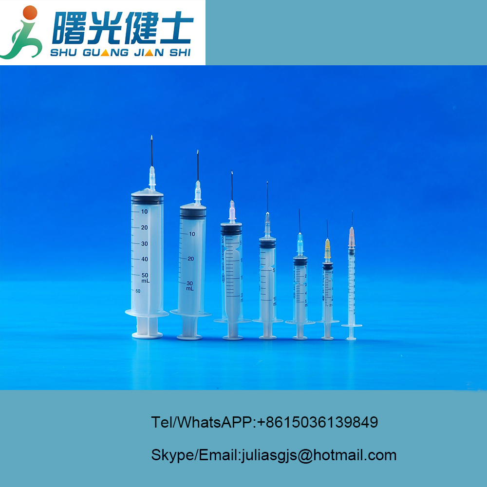 1ml 2ml 2.5ml 3 ml 5ml 10ml 20ml 30ml 50ml plastic disposable syringe with needle