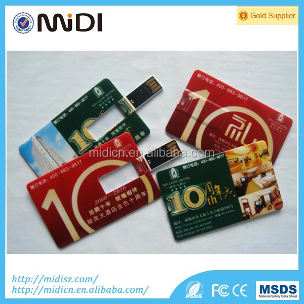 Cheap Samples Credit Card USB Flash Drive Custom Credit Card USB Flash memory U-Disk