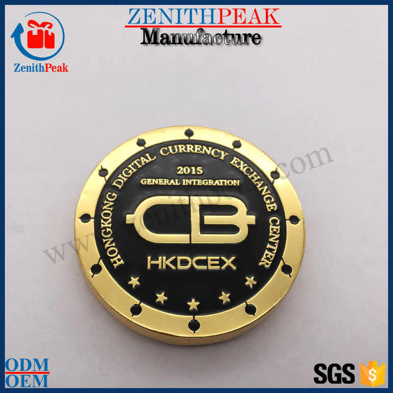 Arts and crafts custom design zinc alloy Gold Commemorative Coins