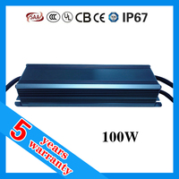 5 years warranty waterproof IP67 0-10V dimmable 1400mA LED driver 100W constant current with PFC