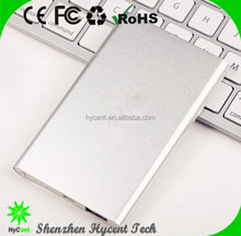 slim power bank 5000mAh protable charging phones battery power 5V/2A power bank charger