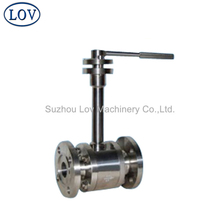 Forged Metal Seat Stainless Steel Long Stem Floating Ball Valve For High Temperature Medium