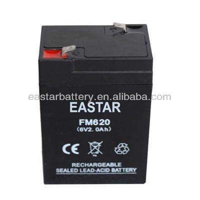 Storage Sealed Lead Acid Battery 6v 2Ah