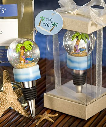 Water Globe Bottle Stopper Favors