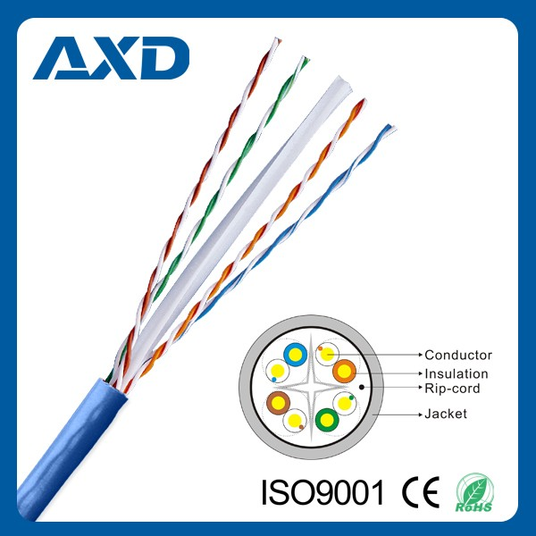 AXD cat6 cable manufacturer hot selling UTP FTP SFTP cat6 cable 305m roll price
