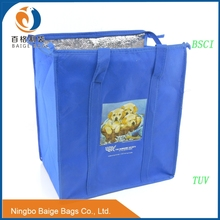 china manufacture promotional fitness cheap non woven cooler lunch bag