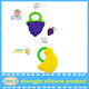 100% Food Grade Soft Fruit Shape Silicone Baby Teether /Baby Teething Necklace for Biting