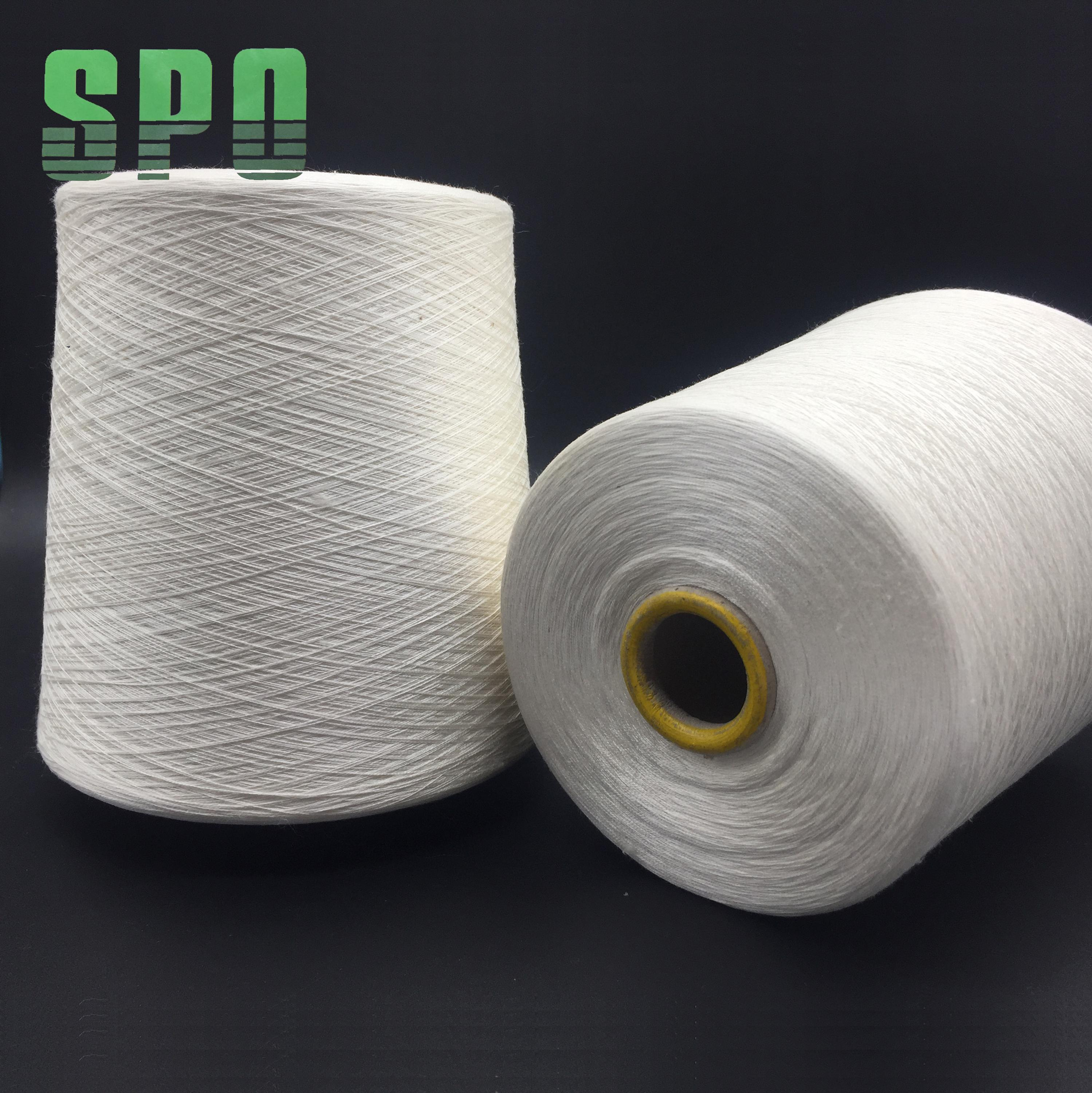 hand spun silk yarns obtained from mulberry silkworm raw white